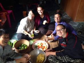 Eating with my Thai family in the village